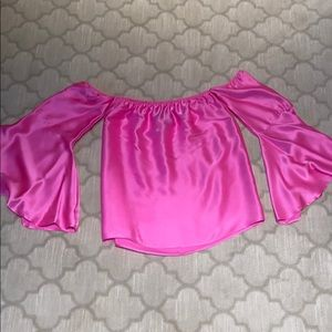 """Hot pink butterfly sleeve  """"Good going out top """""""